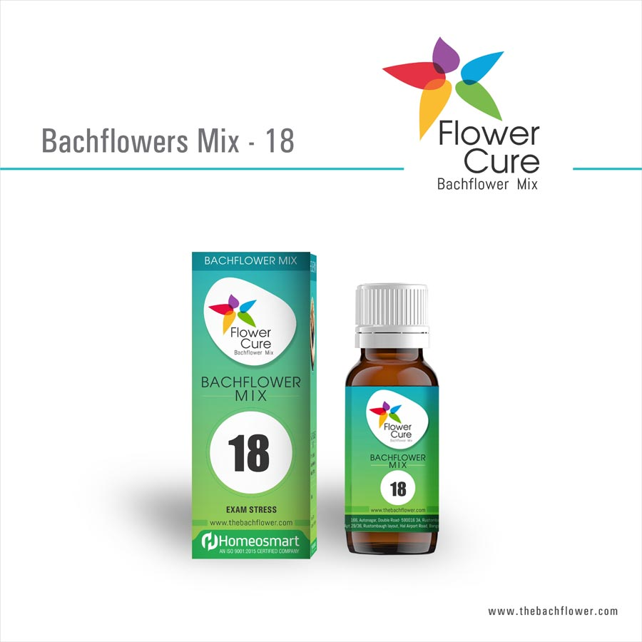 FlowerCure Mix 18 for Exam Stress