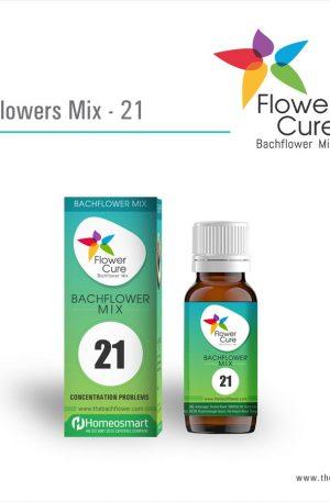 FlowerCure Mix 21 for Concentration Problems