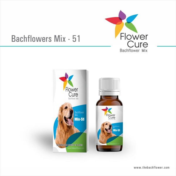 FlowerCure Mix 51 for Separation Anxiety in Dogs
